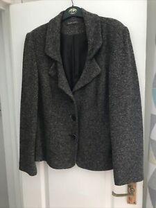 Alex & Co brown and beige tweed jacket size 16