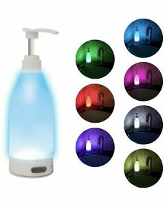 TikTok RGB LED 7 Color Motion Activated Soap Dispenser Night Light w 10ft Sensor