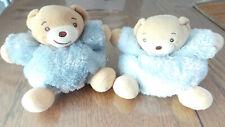 lot de 2 ours boule fourrure bleue kaloo 16 cm