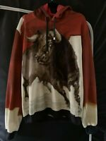 DOLCE & GABBANA 2015ss Bull Painting Cotton Silk Hoodie Size EU 50