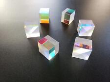 6pcs X-cube Prism Defective Cross Dichroic Combiner Splitter Optical Glass Decor