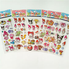 10 sheets Cute My Melody Kuromi PVC Stickers Kids Reward Gift Phone Diary Album