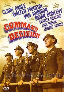 Command Decision (1948) - Clark Gable, Walter Pidgeon (Region All)