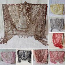 DENTELLE PUR imprimer Triangle Voile église Mantilla écharpe HOUPETTE foulard