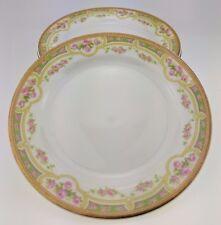 "Lot of 5 Bawo & Dotter Elite Works Limoges Pink Roses 6 1/8"" bread plate BWD379"