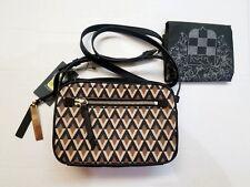 NWT Vince Camuto Linn Printed Crossbody Messenger Bag Grey Cappuccino Black $138