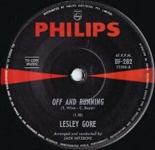 Lesley Gore ORIG OZ 45 Off and running EX '65 Philips BF262 Girl Group Rock Pop