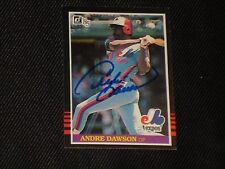 HOF ANDRE DAWSON 1985 DONRUSS SIGNED AUTOGRAPHED CARD #421 MONTREAL EXPOS