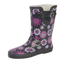 Women's Rubber Buckle Wellington Boots