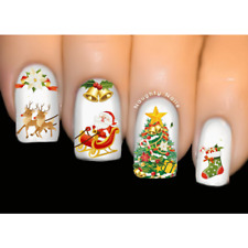 Xmas Joy Christmas Nail Decal Water Transfer Sticker Tattoo