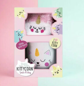 ⭐️ Kittycorn Kitty Cat Socks and Mug Set ⭐️BRAND NEW ⭐️ Cat Unicorn ⭐️