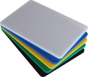 Tagliere Professionale in Polietilene Colore Bianco sp. 1 cm Varie dimensioni