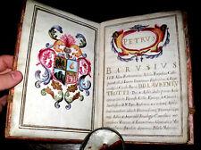 1684 Vellum ILLUMINATED Manuscript DIPLOMA Italy FINE Leather BINDING Wax SEAL