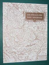 Les annales des Pays Nivernais  Camosine Nièvre Nevers n° 50 1986