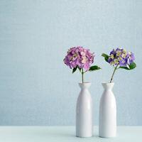 Modern Wallpaper rolls Plain blue metallic faux plaster Textured striped lines
