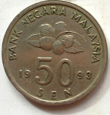 Second Series 50 sen coin 1993