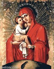Painting by Number kit Virgin Mary Mother of God Madonna Notre Dame DIY BB7542