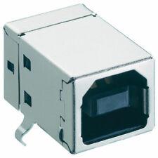 Lumberg 2411 03 USB 2.0 Chasis Zócalo Tipo B Para Pcb en ángulo Negro