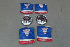 1953-54 Packard Clipper hub caps, set 4, NOS! 465076, dog dish