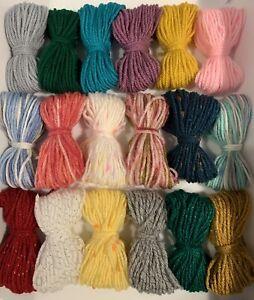 SALE🎉 New Mix DK Yarn Wool JobLot Knitting Crochet Craft Bundle Pompoms Macrame