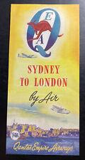 Original Australia Qantas Empire Airways Flyer Sydney To London