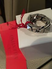 VALENTINO ROCK STUD UOMO CHAIN RING NWT