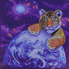 Bengal Tiger Cub Espace Counted Cross Stitch Kit Design Works