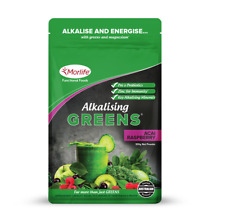 Morlife Alkalising Greens Acai Raspberry 100g  | Alkalise Super Greens