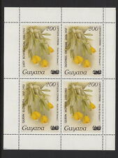 GUYANA : 1985 Queen Mother opt Min Sheet issue 2  SG MS1570  unmounted mint