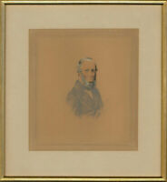 Swaine - Signed & Framed Mid 19th Century Graphite Drawing, Portrait of a Man