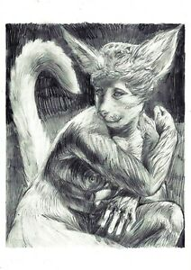 The New Venus Surrealism Contemporary Art Pencil Original drawing on paper A4