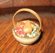 Antique German Miniature food wood Basket