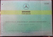 Mercedes Unimog Type OM 615 Motor-Ersatzteilliste