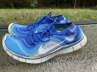 Nike Flyknit 5.0 Men's Size 13 Blue Gray Running Athletic Shoes 615805-414