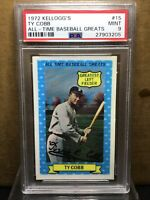 1972 Kelloggs All Time Greats #15 Ty Cobb PSA 9 Mint Detroit Tigers
