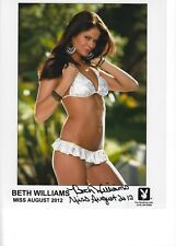 Playboy's Miss August 2012 Beth Williams,  Signed  Swimsuit Promo Photograph