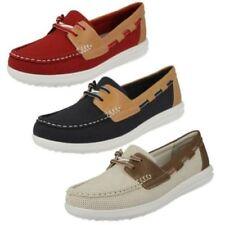 Zapatos planos de mujer náuticos Clarks