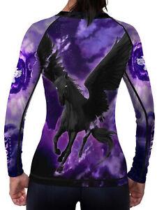 Raven Fightwear Women's The Pegasus Dusk Rash Guard MMA BJJ Purple