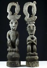 Large finely carved ancestor figure finial pair - West Timor - Indonesia