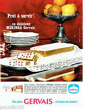 PUBLICITE ADVERTISING 056  1964  Gervais  gateau glacé Meringa