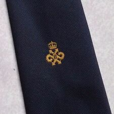 QUEEN'S AWARD EXPORT TIE VINTAGE RETRO NAVY CREST 1970s 1980s BY TOOTAL NAVY