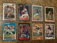 (8) Greg Maddux 1987 1988 Donruss Fleer Topps Rookie 2nd card lot RC 1989 Upper