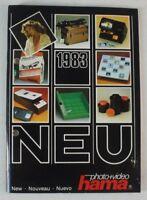 1983 photo + video Hama NEW Nouveau Nuevo Kamara Equip Katalog - Buch - B8222
