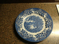 Dinner Plate Churchill China England Tonquin Blue White Straffodshire Tableware