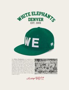 Denver White Elephants Negro League Baseball Hat Wool Negro League Baseball Cap