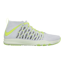 Men's Sz 11 Nike Train Ultrafast Flyknit Grey/Green Running Shoes 843694 006