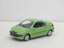Peugeot 206 CC in hellgrün, ohne OVP, Hongwell/Cararama, 1:43