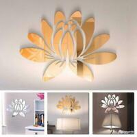 Modern 3D Flower Mirror Wall Sticker Art DIY Decal Decor Room Removable D5K2