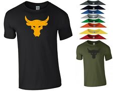 Brahma Bull T Shirt The Rock Project Gym Bodybuilding MMA Workout Gift Men Top