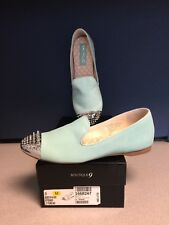 Boutique 9 Yendo Light Turquoise Suede Flats Size 8M *NEW